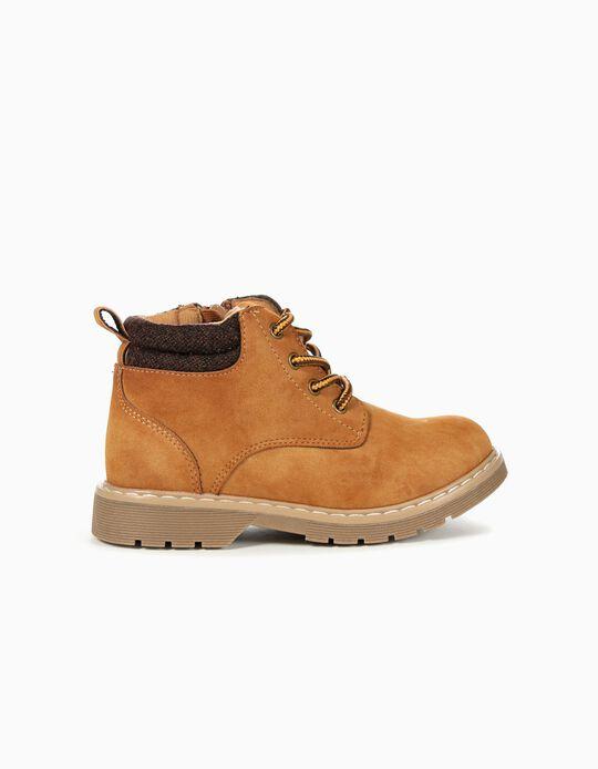 Chaussures montantes garçon, Camel