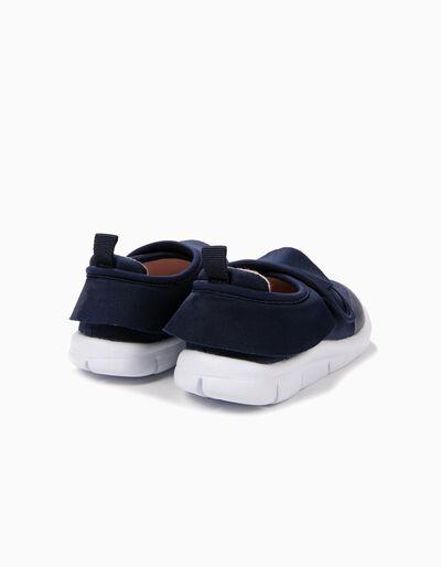 Zapatillas con Cierre Autoadherente y Volantes Azules