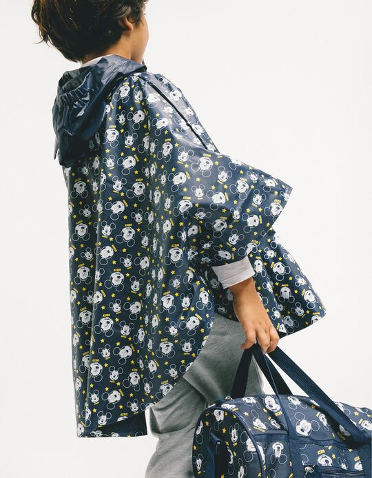 Rain Cover for Boys 'Mickey', Dark Blue