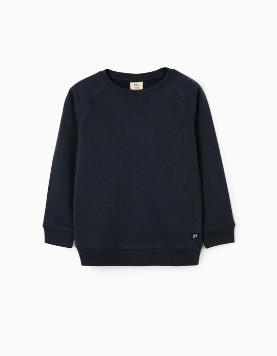 Sweatshirt for Boys 'ZY', Dark Blue