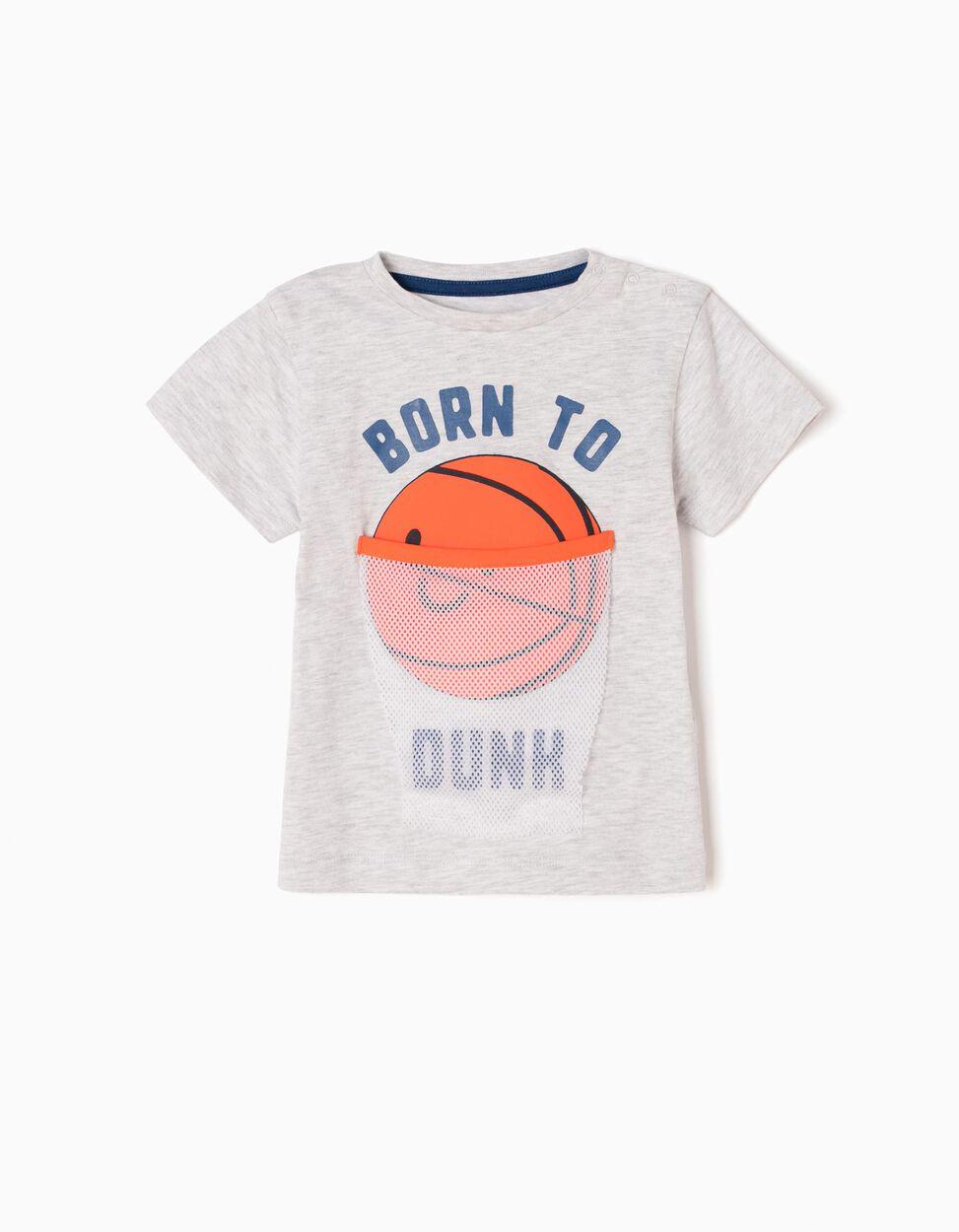 Camiseta Estampada Born To Dunk