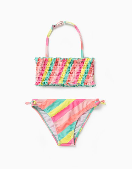 Bikini for Girls, UV 80 Protection, 'Stripes', Multicolour