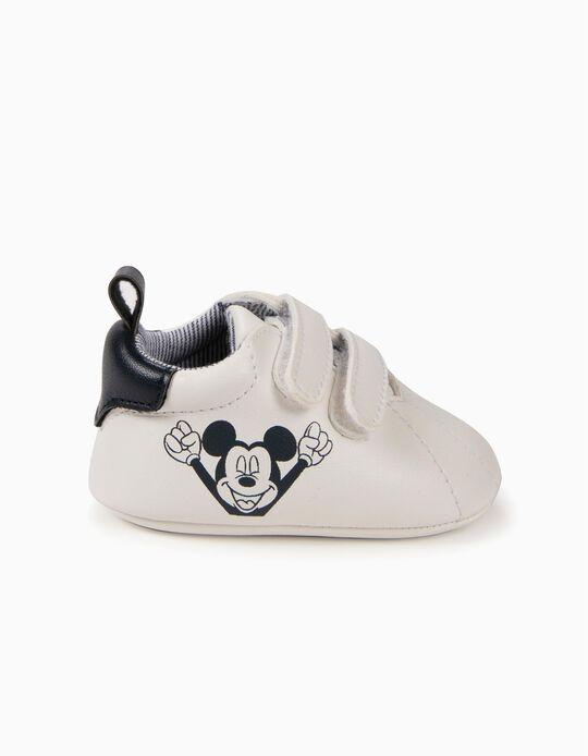 Zapatillas para Recién Nacido 'Mickey', Blancas