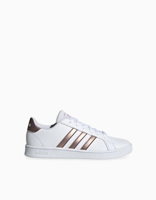 Zapatillas 'Adidas Grand Court', Blanco/Rosa