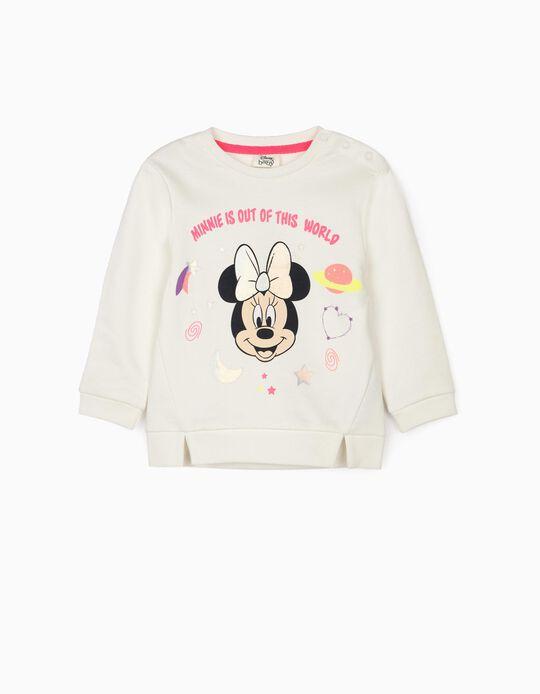 Sudadera para Bebé Niña 'Minnie World', Blanco