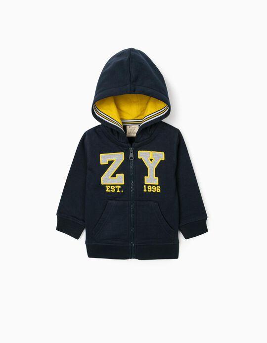 Casaco com Capuz para Bebé Menino 'ZY', Azul Escuro
