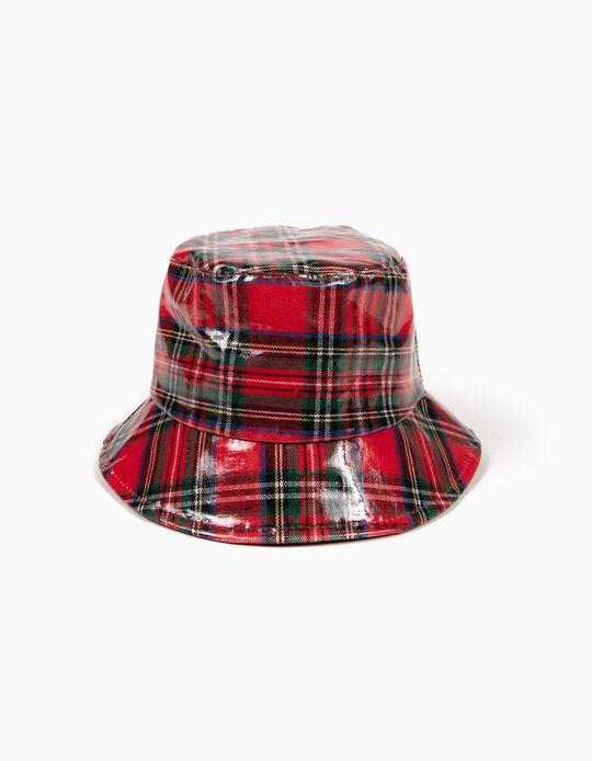 Sombrero impermeable de Tartán