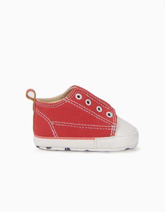 Zapatillas para Recién Nacido con Elásticos, Rojo