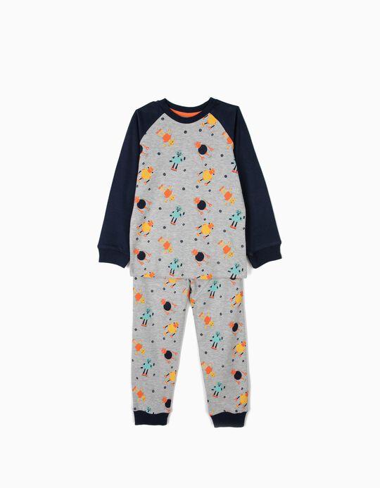 Pijama para Niño 'Robots', Gris y Azul