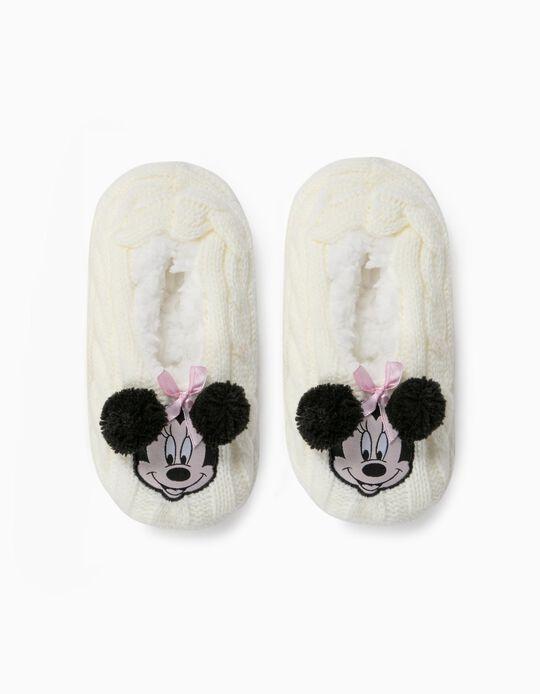Zapatillas de Casa para Niña 'Minnie', Blancas