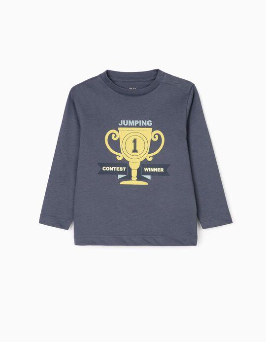 Camiseta de Manga Larga para Bebé Niño 'Winner', Azul