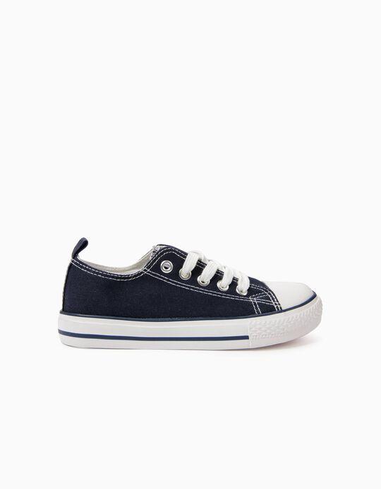 Zapatillas Infantiles '50's Sneaker' con Cordones, Azul Oscuro