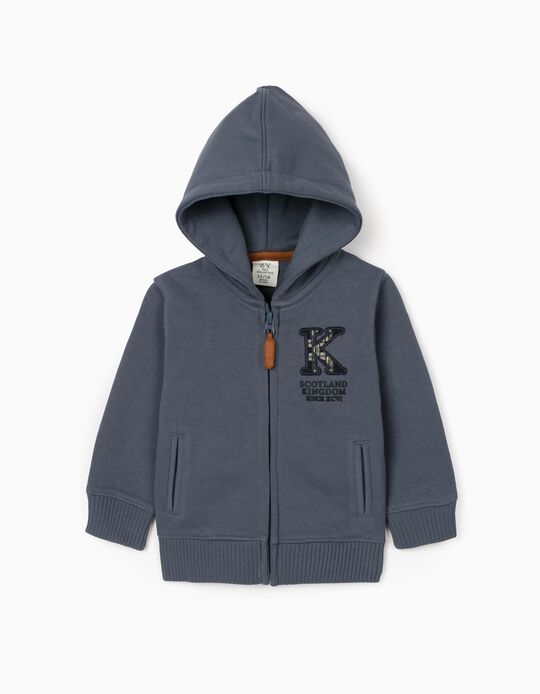 Hooded Knit Jacket for Baby Boys, Blue
