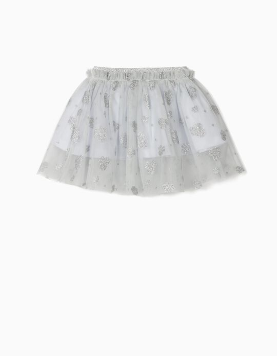 Tulle Skirt for Baby Girls 'Minnie Mouse, Grey/Silvery