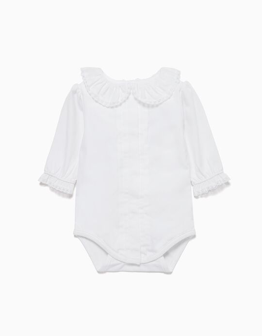 Combined Bodysuit with Ruffles for Baby