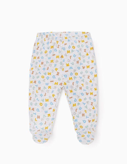 Pantalon à Pieds Nouveau-né 'Mickey', Gris