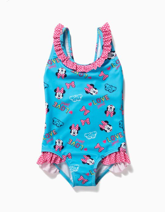 Fato de Banho para Bebé Menina 'Minnie' Anti-UV 80, Azul