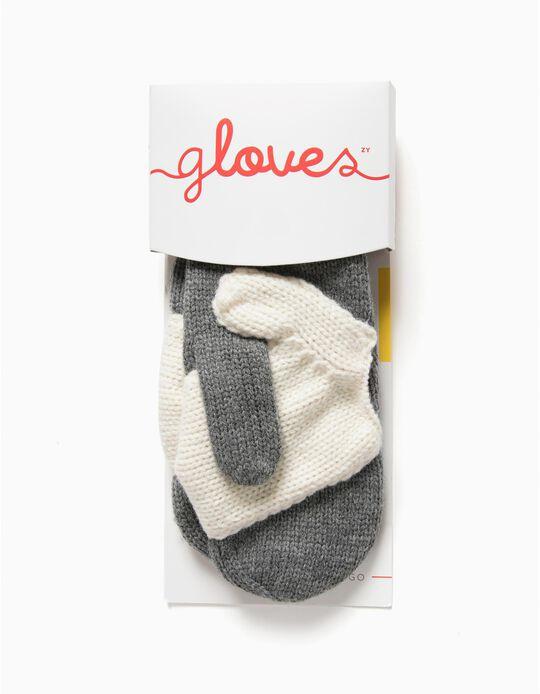 Meaningful Gloves - Luvas para Adulto e Criança, Cinzento e Branco