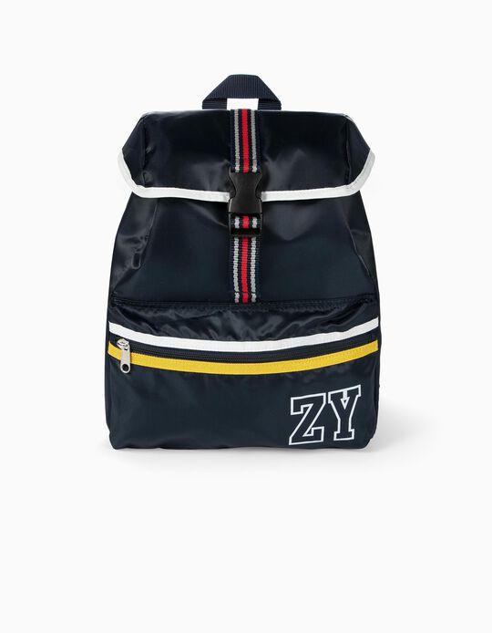 Mochila Deportiva para Niño 'ZY', Azul Oscuro