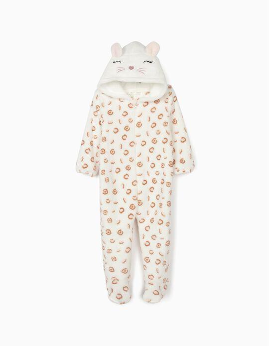 Pyjama-combinaison bébé fille 'Cute Leopard', blanc