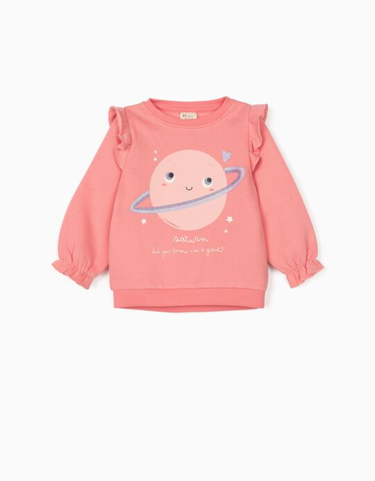 Sweatshirt for Baby Girls 'Saturn', Pink