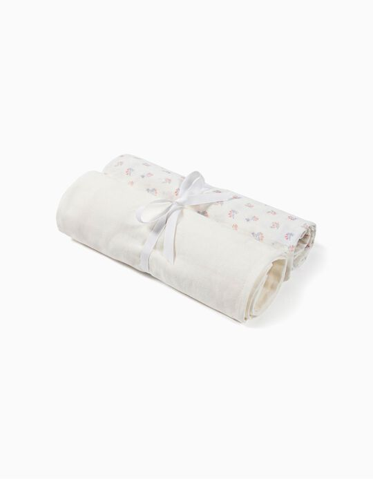 PACK OF 2 MUSLIN NAPPIES 70 X 70 CM BY ZY BABY