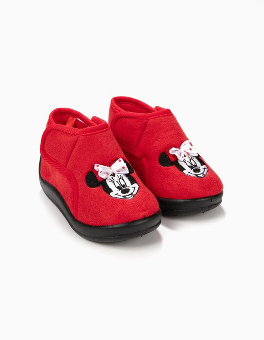 Zapatillas de Casa Minnie Christmas Rojas