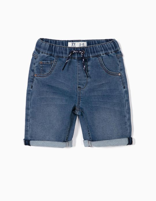 Denim Shorts for Boys, Blue