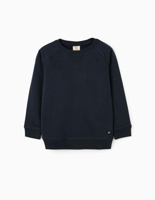 Sweatshirt para Menino 'ZY', Azul Escuro
