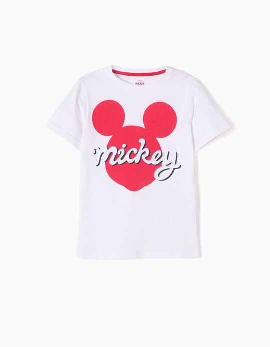 T-shirt Branca Mickey