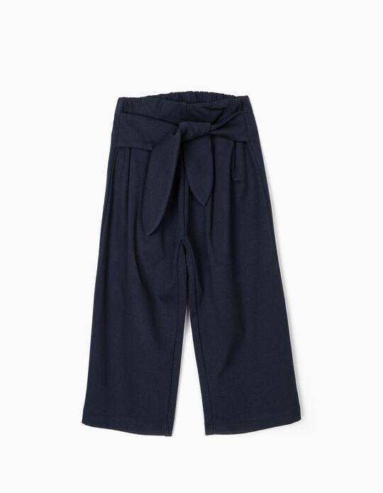 Calças Culottes para Menina, Azul-Escuro