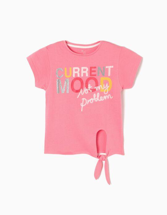 Camiseta Rosa con Lazo Mood