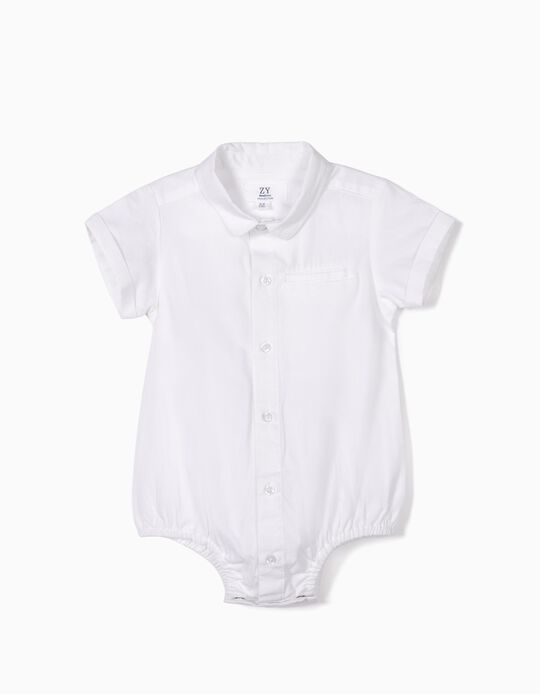 Body Camisa para Recién Nacido, Blanco
