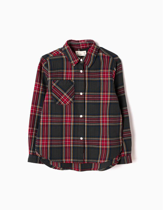 Camisa Manga Comprida Xadrez