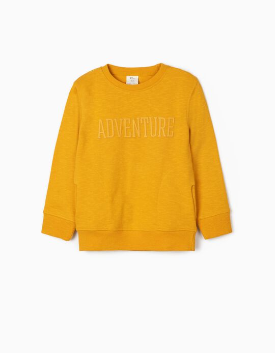 Sweat garçon 'Adventure', jaune