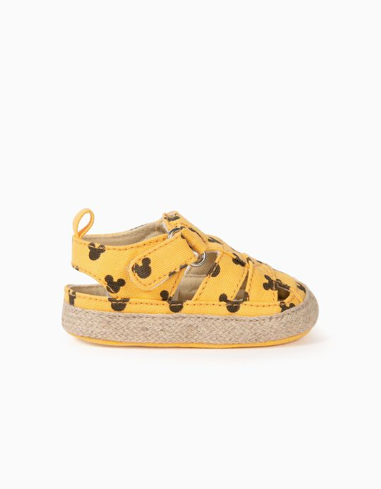 Sandals for Newborn Baby Boys, 'Mickey Mouse', Yellow