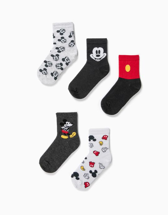 5 Pares de Meias para Menino 'Mickey', Multicolor