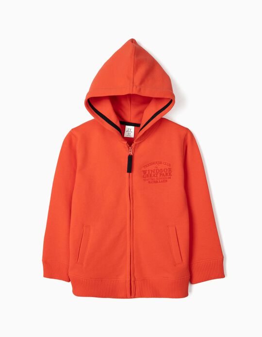 Hooded Jacket for Boys, 'Treehouse Club', Orange