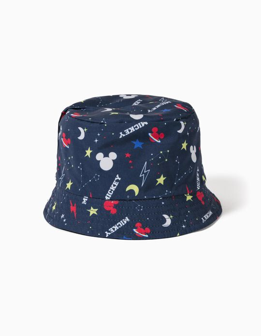 Reversible Hat for Boys, 'Mickey Mouse', Dark Blue