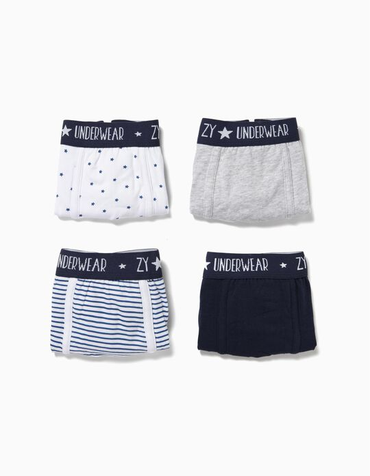 4-Pack Boxers for Boys 'ZY', Multicolour