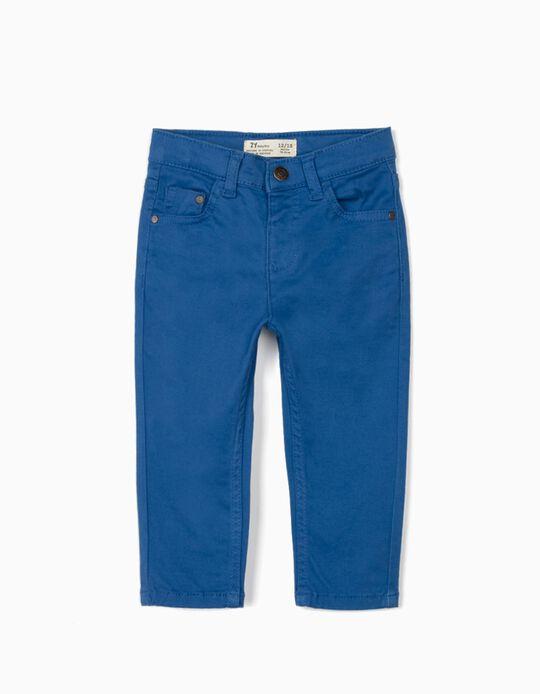Pantalón de Sarga para Bebé Niño, Azul