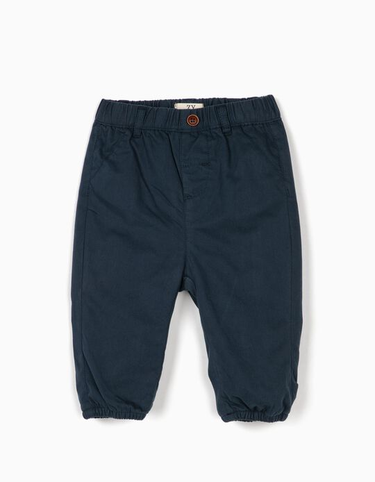 Trousers for Newborn Baby Boys, Dark Blue