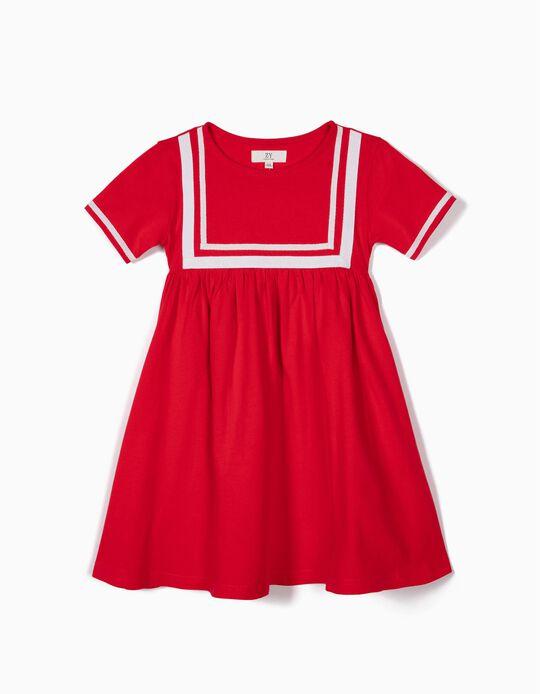 Vestido para Menina 'Sailor', Vermelho