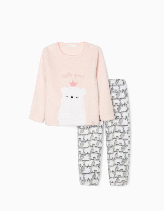 Pijama para Menina 'Little Queen', Rosa/Cinza