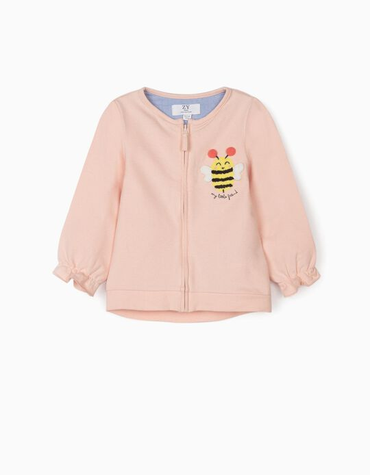 Jacket for Baby Girls 'My Little Friend', Pink