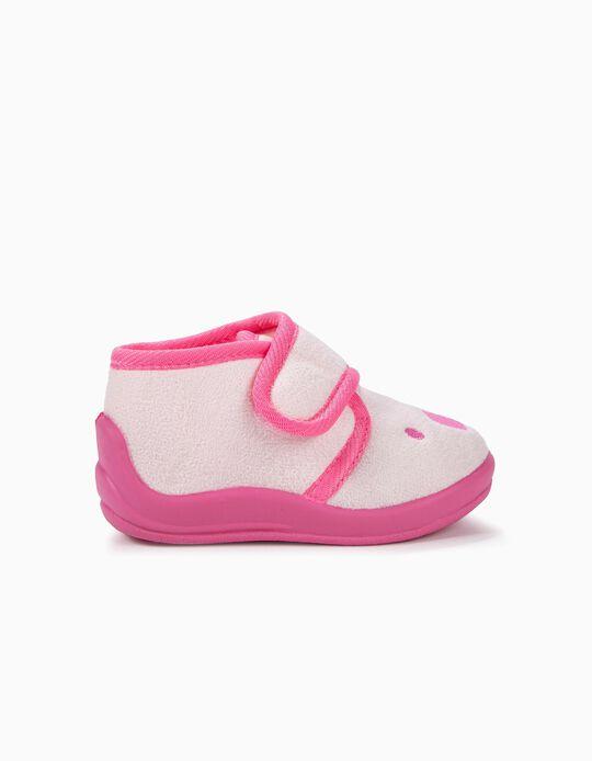 Zapatillas de Casa para Bebé Niña 'Teddy Bear', Rosa