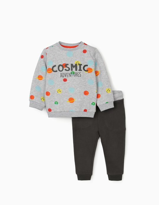 Tracksuit for Baby Boys 'Cosmic Adventures', Grey