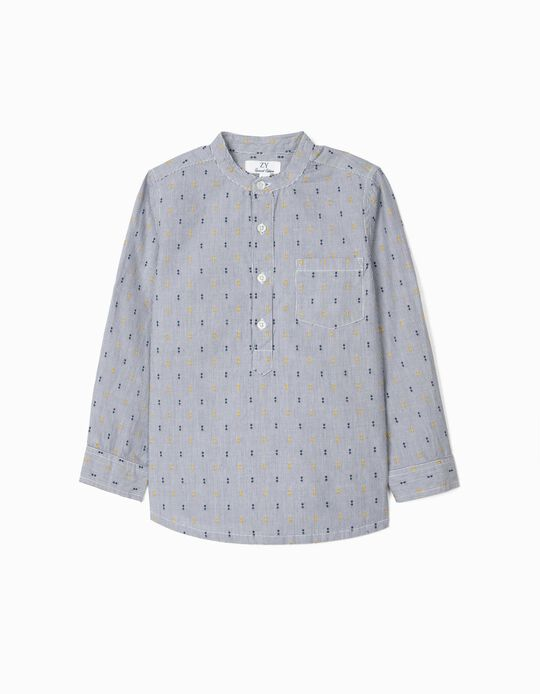 Chemise rayée garçon, bleu