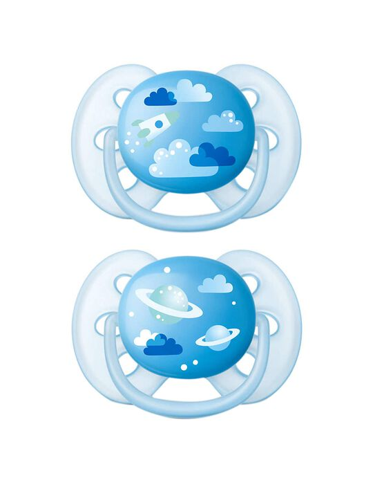 Chupeta Ultra Soft Decoradas 6-18M Philips Avent 2un.