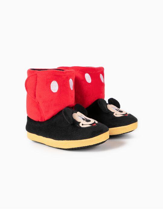 Zapatillas de Casa para Niño 'Mickey', Rojo/Negro